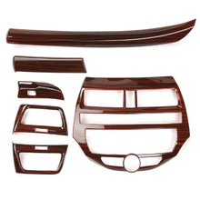 Trim Car Dashboard Honda Accord Cover Side-Air-Vent-Stickers for 8th Abs-Wood 6pcs Strips