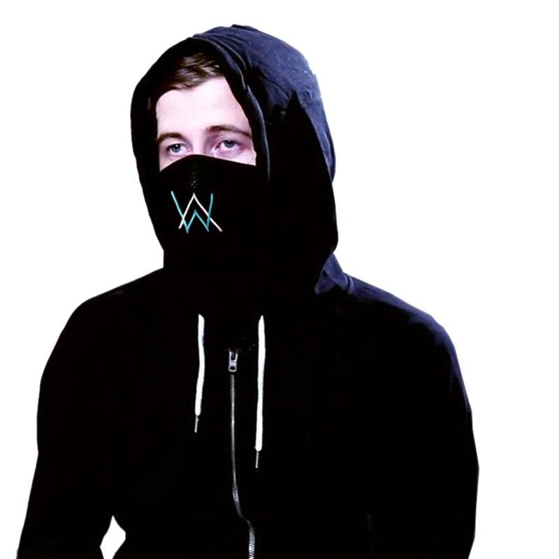 Anpassen Stickerei Alan Walker Verblasst Baumwolle Maske Unisex Staubdicht Atmungsaktive Reiten Mund Maske für Frauen Männer Student Junge Mädchen