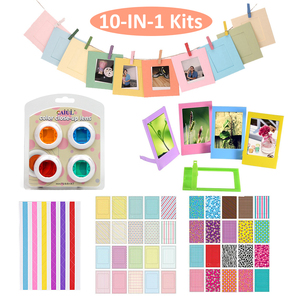 Image 2 - สำหรับFujifilm Instax Mini 9 Mini 8 ภาพวาด/Roseกระเป๋าถือPUหนังกระเป๋า + อัลบั้ม + 10 In 1 ชุด