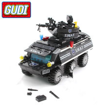 GUDI Legoings SWAT Armored Vehicles Blocks 349pc Bricks Building Block Sets Model Educational Toys For Children Compatible with(China)