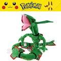 № 384 80 см Покемон Центр XY Новые Плюшевые Игрушки Зеленый Rayquaza Дракон Мега Куклы Мягкие Чучела Животных Игрушки Brinquedos подарок Детям