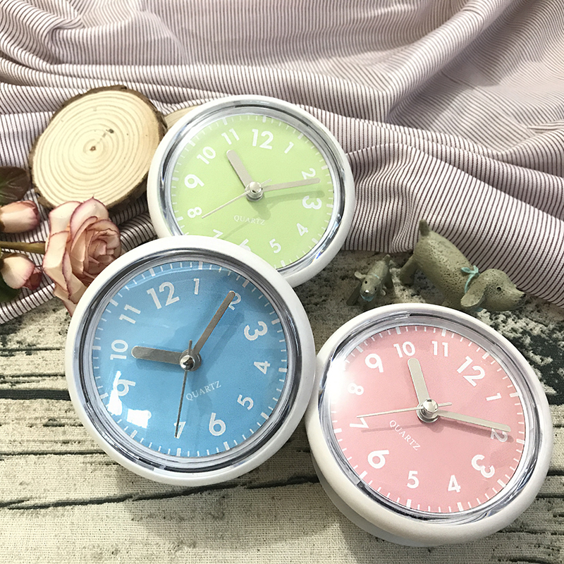 Prevent Mist Waterproof Clocks Shower Sweep Clocks Bathroom Clocks Kitchen Suction Watches Living Room In Mirror And Glass