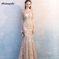 Formal Evening Dress Elegant Mermaid Scoop Plus Size Vestido De Festa Longo Robe Longue Vestido Largo