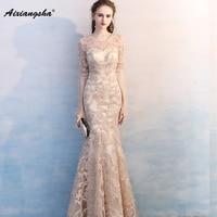 Formal Evening Dress Elegant Mermaid Scoop Plus Size vestido de festa longo robe longue vestido largo lange jurken ever pretty