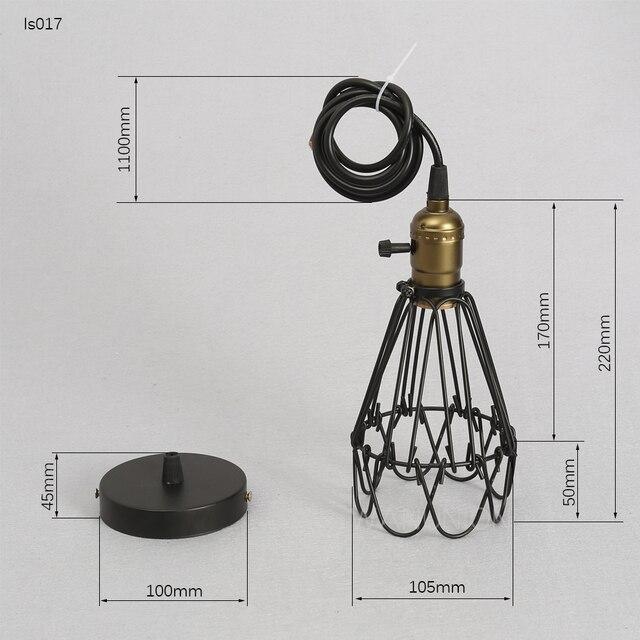 FRLED модная винтажная проволока ламповая клетка DIY Абажур В индустриальном стиле защита лампы лампа из прутьев защита от тени классический черный скандинавские лампы Крышка