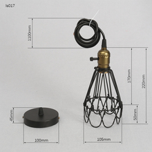 Free shipping on lamp covers shades in lighting accessories frled fashion vintage wire lamp cage diy lampshade industrial lamp guard cage lamp shade guard classic keyboard keysfo Gallery