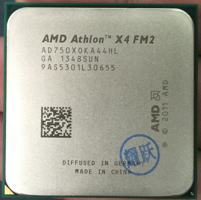 PC computer AMD Athlon X4 750 X750 750X FM2 Quad-Core CPU 100% working properly Desktop Processor