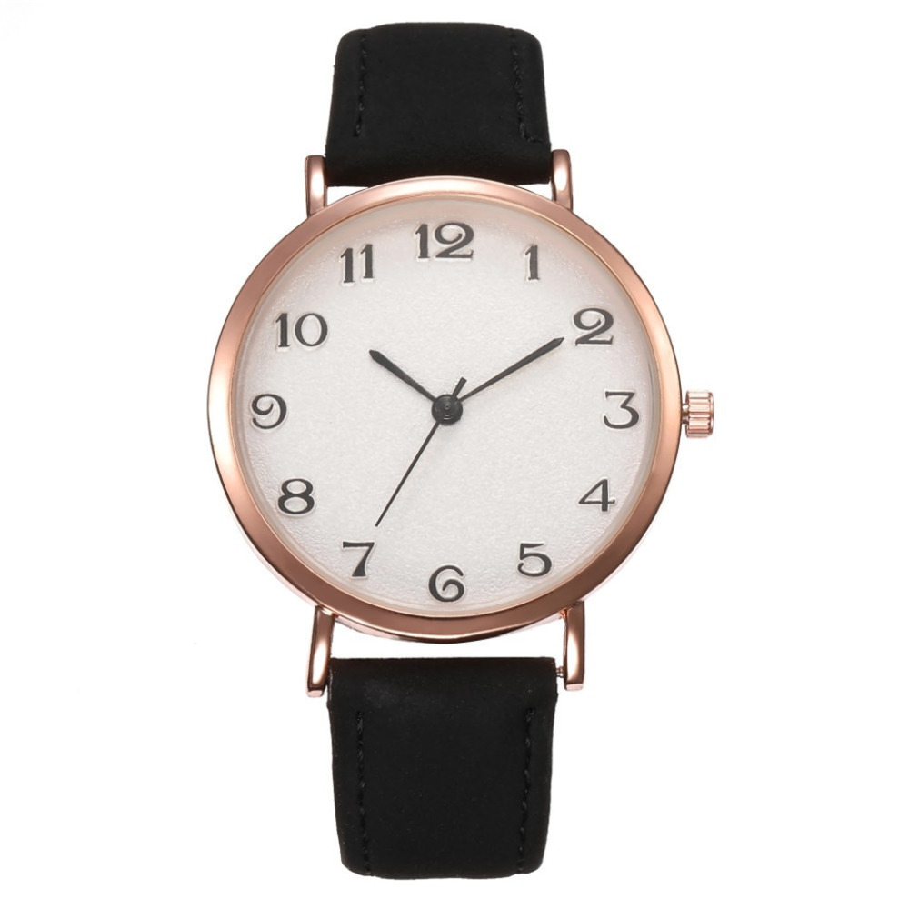 New Simple Ladies Quartz Wrist Watch Temperament Casual Watch Female Models Women's Watches Leather Belt Clock Dress Gift