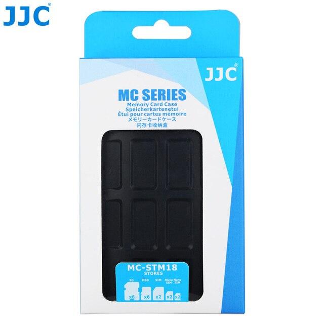 JJC Water-Resistant Camera Memory Card Case 6 SD, 6 TF, 2 SIM, 2 Micro SIM, 2 Nano SIM Cards Compact Tough Storage Box