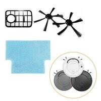 로봇 진공 청소기 용 교체 필터 박스/걸레/브러시 추가 액세서리 부품 세트