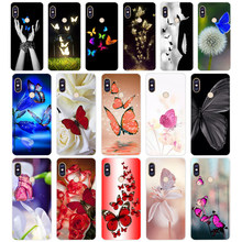 231WE Red butterfly on white roses Soft Silicone Tpu Cover phone Case for xiaomi redmi 6 5A 6A 5Plus note 5 6 5A Pro(China)