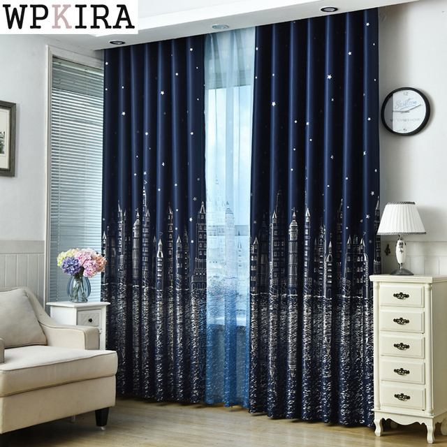 Contempor neo estilo europeo cortinas acabadas para living for Cortinas de tela para living