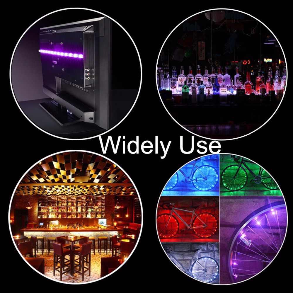 USB LED Strip DC 5 V Tahan Air RGB 5050 SMD Lampu LED Berubah Warna TV Pencahayaan Latar Belakang 44key IR Remote controller Strip Set