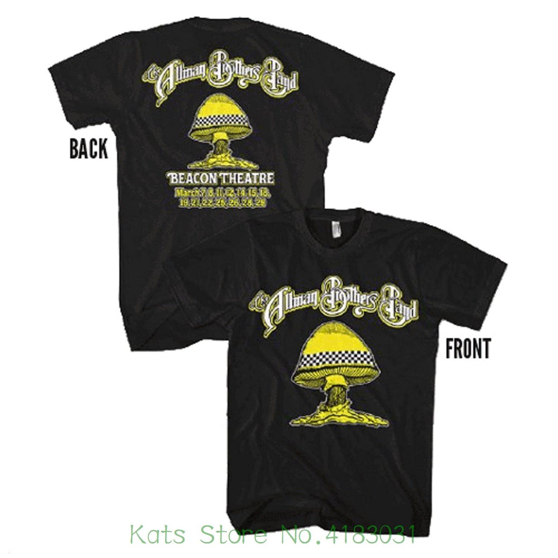 Merchandising The Allman Brothers Taxi Mushroom Tour T-shirt - Black Summer New Print Man Cotton Fashion