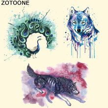 ZOTOONE Iron on Patches Personalized Animal Heat Transfer Ironing Stickers DIY Accessory East Print Clothing Appliqued