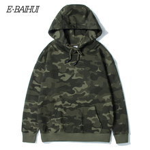 E-BAIHUI Camouflage Hoodies Men New Fashion Sweatshirt Male Camo Hoody Hip Hop Autumn Winter Military Hoodie Plus Size 4XL T040