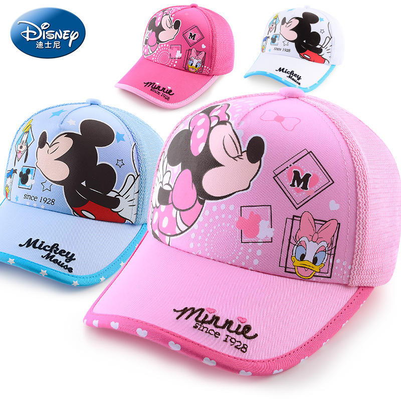Disney children hat mickey mouse cap minnie cartoon kids hats outdoor wear  cotton Adjustable breathable Visor Shade boy girl cap-in Hats   Caps from  Mother ... a35c27b92b23