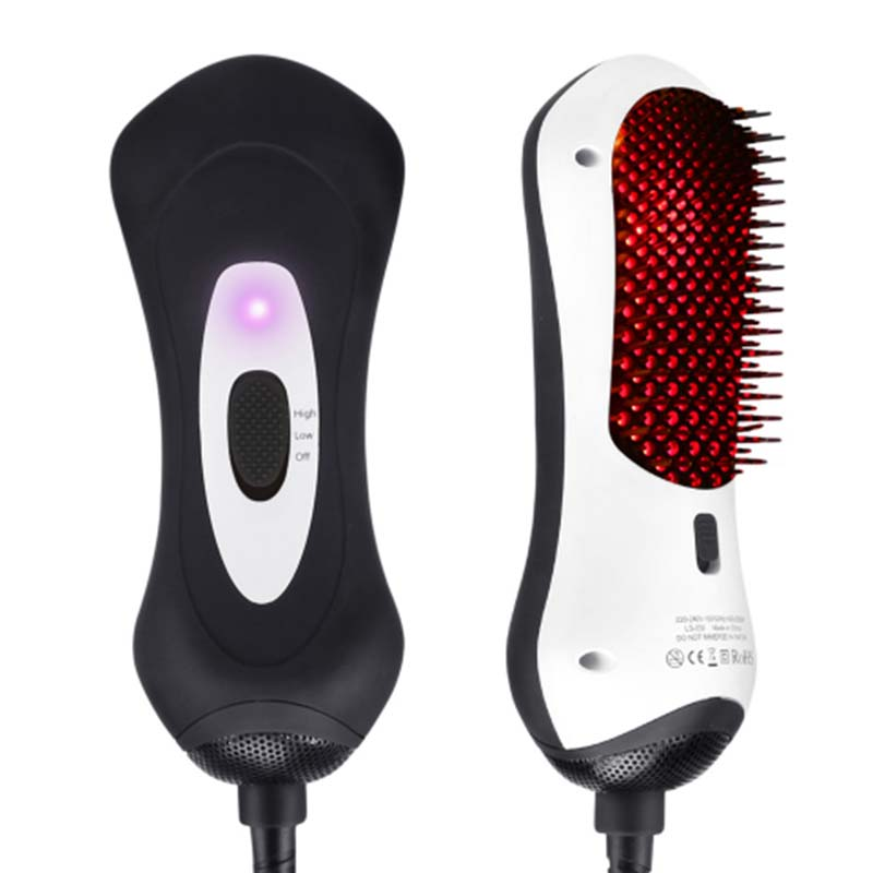 все цены на High Quality Digital Control Heating Brushes Ceramic Electric Hair Brush Hair Straightener Straightening Flat Iron Comb