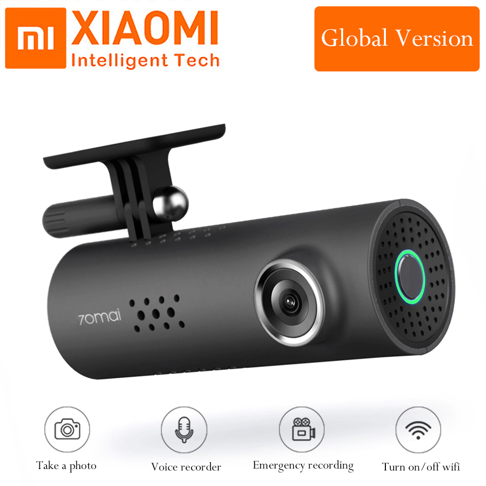 Xiaomi 70Mai 1080P Full HD Night Version Smart WiFi Car DVR 130 Degree Wireless Car Dash Cam Driving Recorder Global Version