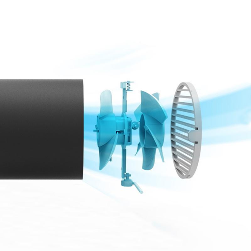 Portable Mini USB Desk Fan Rechargeable Battery Fan Silent Creative Home Office Desktop Fan With Fan Blades Blower Second Gear (4)