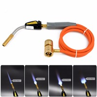 Mayitr Gas Self Igniting Turbo Torch With Hose Solder Propane Welding Torches For Plumbing Air Condition