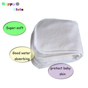 Image 2 - وحدة إدخال لحديثي الولادة من HappyFlute مصنوعة من ألياف الخيزران قابلة لإعادة الاستخدام قابلة للغسل 10 قطع pcak شحن مجاني