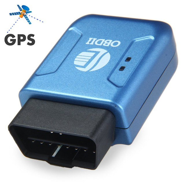 OBDII GPS tracker GPRS Real Time Tracker Car Vehicle Tracking System With Geofence protect Vibration Cell Phone SMS alarm alert