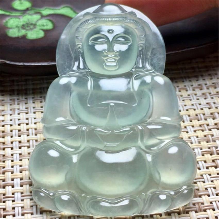 Natural high-end product ice yu guanyin bodhisattva bao ping guanyin pendant male pendant ds 11 china bronze gilded guanyin bodhisattva comfortable kwan yin buddha statue page 4