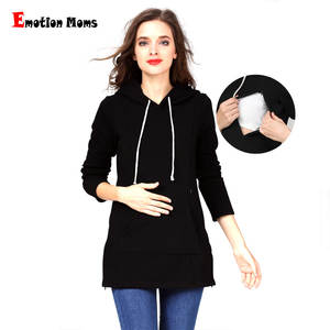 Emotion Moms New Winter pregnancy Maternity Clothes Nursing tops for Pregnant Women Breastfeeding Hoodie sweater Maternity tops