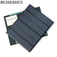 BUHESHUI 18 V 3.5 Watt Polikristal Güneş Pili Mini GÜNEŞ PANELI Güneş Enerjisi 12 V pil şarj cihazı 165*135*3 MM 3 adet Ücretsiz Kargo