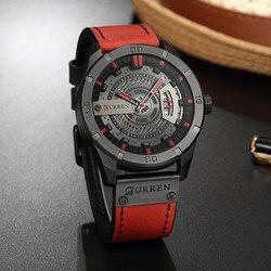 Relogio Masculino 2017 Men's Military Sport Quartz Watch Curren Watches Men Brand Luxury Leather Waterproof Wristwatch Man Clock