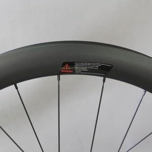 Image 3 - Dysk węglowy koła filar 1423 mówił Novatec D411/D412 piasty 6 śruby lub centralny zamek Cyclocross koła żwiru zestaw kół rowerowych