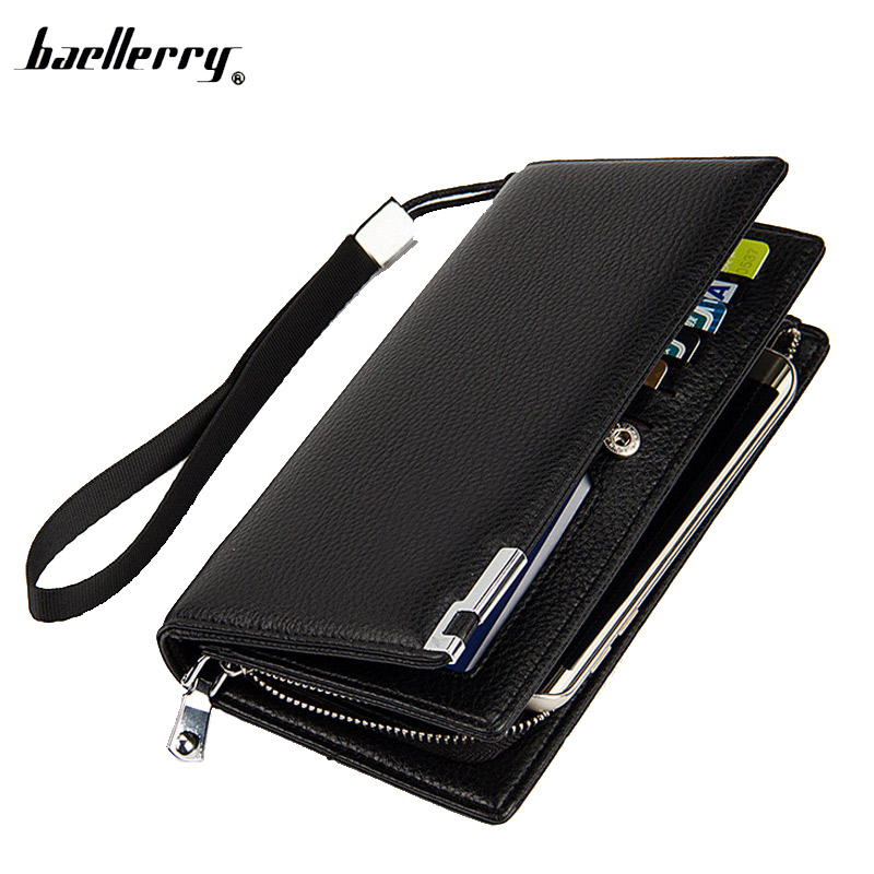 Business Office Style Men Wallet Long PU Leather Male Purse Leisure Design Men Hand Bag With Photo Card Holder Passport Purse men 2017 spring summer fashion shoes lace up low breathable male flats casual shoes students loafers white khaki shoe hot sale