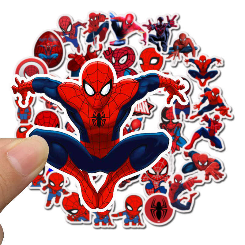 35PCS/Bag Marvel Stickers Avengers Endgame Super Heroes Spider Man Waterproof Laptop Skateboard Suitcase Sticker  Toys For Child