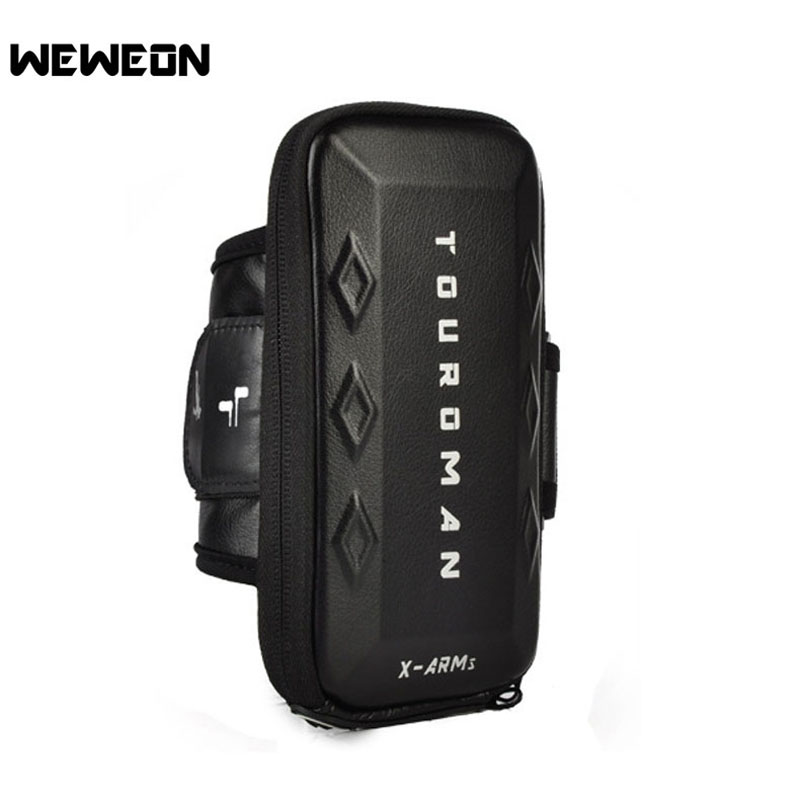 Outdoor Waterproof Sport Arm Bag EVA Running Gym Bag Phone Accessories Cover Bags Fits Phones Below 6 Inches Unisex Running Bag