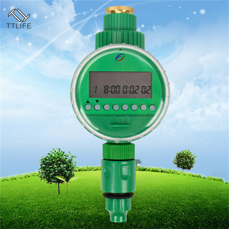 TTLIFE Digital Irrigation Controller System Solenoid Valve and Automatic Electronic Intelligent Garden Water Timer LCD Display