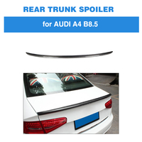 For Audi A4 B8 8.5 2013 2016 Rear Trunk Spoiler Boot Wing Lip Carbon Fiber S4 Style