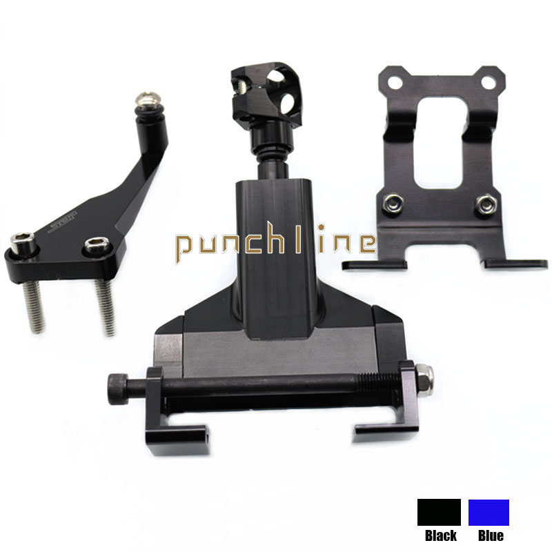 For YAMAHA MT-07 FZ-07 MT07 FZ07 MT 07 FZ 07 2014-2016 Motorcycle Accessories Steering Stabilizer Damper Mounting Bracket Black for yamaha mt 01 mt 03 mt 07 fz 07 mt07 mt03 mt01 motorcycle navigation frame mobile phone mount bracket with usb charge port
