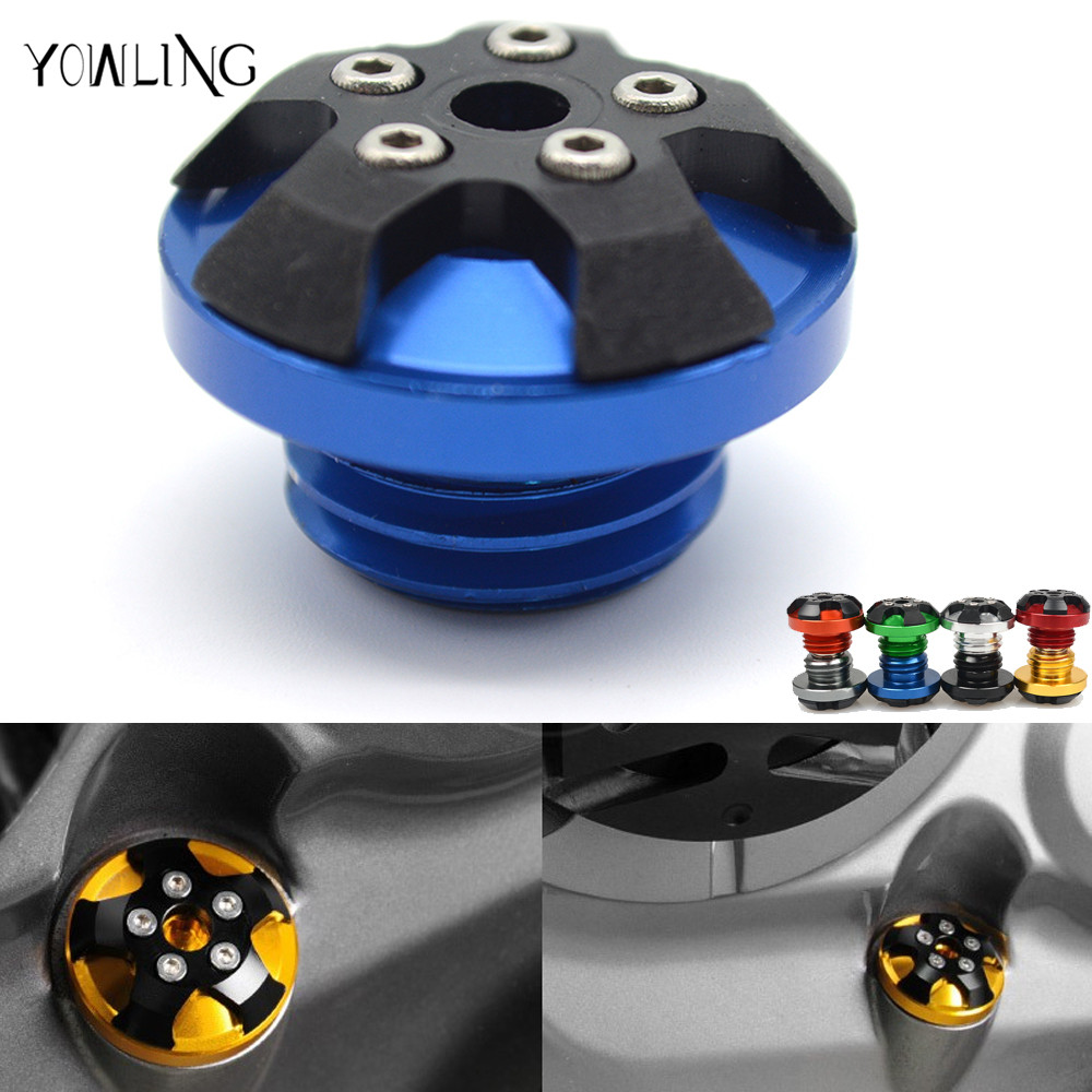motorcycle magnetic Engine Oil Cap Fuel Tank Cover For kawasaki Z1000 z800 Ninja 250 ER-6f yamaha tmax-530 tmax500 mt-09 mt09 engine oil filter cap screws for kawasaki z1000 z800 motorcycle accessories