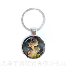 Buy map keychain and get free shipping on aliexpress 2018 globe world map keychains vintage world map keyring for men and women children pendant antique gumiabroncs Gallery