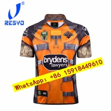 6d98b358d25 RESYO TOP Thai quality West Tigers Heroes Version Rugby jerseys Football  Shirt/ Size S-