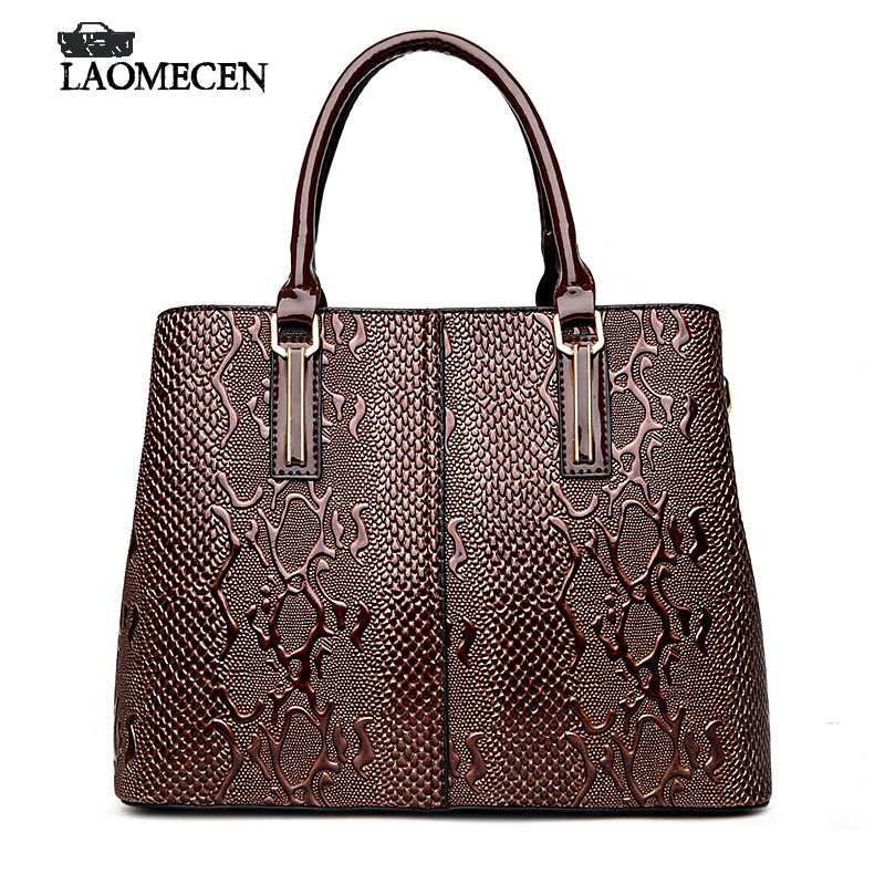 8f63e9a3aefc Luxury French Designer Bag Women Stella Handbags Fake Casual Serpentine  Handbag Famous Brands Bright Tote Bags For Women 2018 on Aliexpress.com