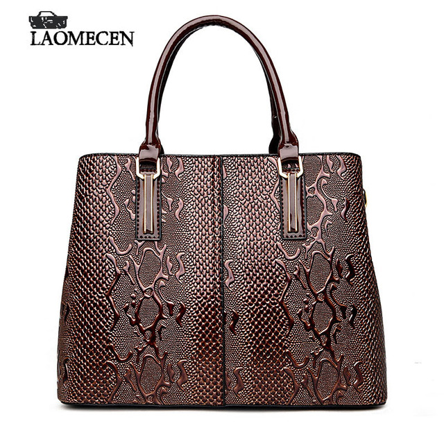 f0a58640b894 Luxury French Designer Bag Women Stella Handbags Fake Casual Serpentine  Handbag Famous Brands Bright Tote Bags For Women 2018