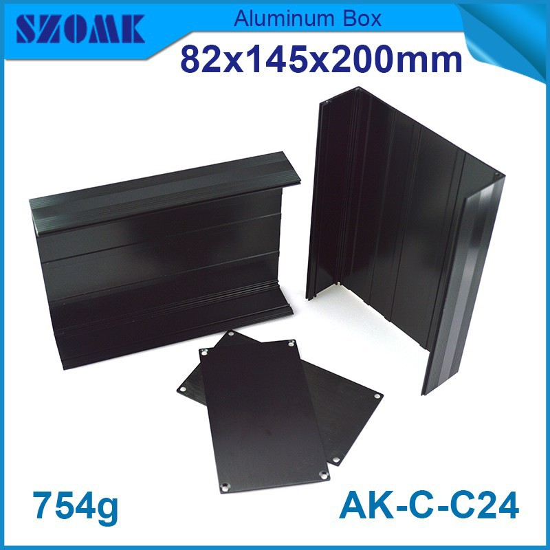 1 piece Black olor Camera enclosures 76x140mm electrical junction box aluminium box diy 82(H)x145(W)x200(H)mm black project box 215 52 263 mm w h l aluminum extruded enclosures housing project box case