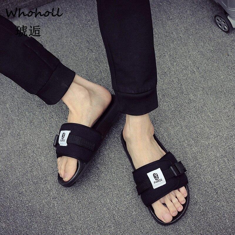 Men Shoes Solid Flat Bath Slippers Summer Sandals Indoor Outdoor Slippers Casual Men Non Slip Flip Flops Beach Shoes 5 5 9 5 in Slippers from Shoes