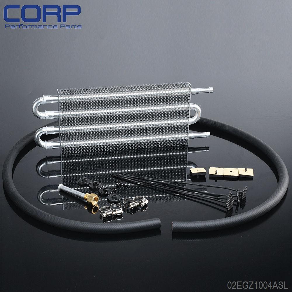 Universal Aluminum Remote Transmission Oil Cooler/Auto-Manual Radiator Converter aluminum radiator for 1993 1995 mazd rx 7 fd3s manual transmission