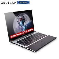 15.6inch 8gb ram 2tb hdd intel core i7 windows 10 system 1920x1080p full hd wifi bluetooth dvd rom Notebook PC Laptop Computer