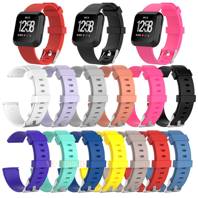 US $1 75 |2018 For Fitbit Versa Wristband Wrist Strap Smart Watch Band  Strap Soft Watchband Replacement Smartwatch Band-in Smart Accessories from