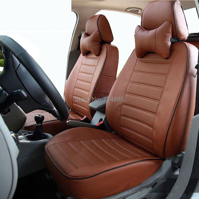 Carnong car seat cover leather custom proper fit for - Car seat covers for tan interior ...