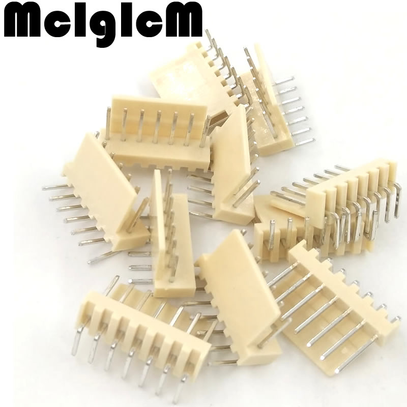 Free shipping 1000pcs male right angle material KF2510 7pin 7pins Connector Leads pin Header 2 54mm